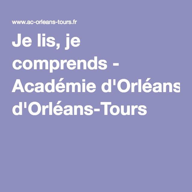 Je lis, je comprends - Académie d'Orléans-Tours