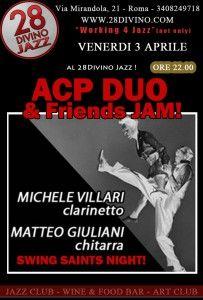 ACP & Friends al 28DiVino Jazz Club (03 aprile 2015) Concerto di Musica , Musica Live Roma