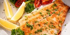 BAKED FLOUNDER FILLETS IN LEMON-SOY VINAIGRETTE This recipe can be prepared in 45 minutes or less.