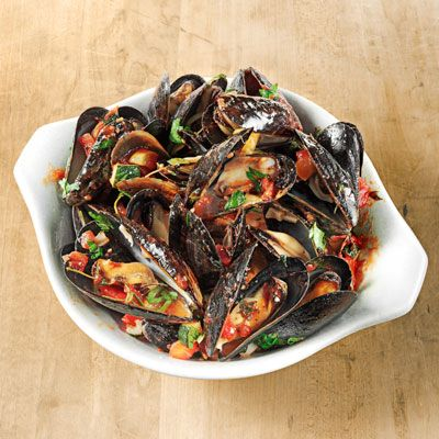 Bring the beach home with you year-round with this basic steamed mussels recipe from chef-owner Marc Murphy of Ditch Plains in New York City.