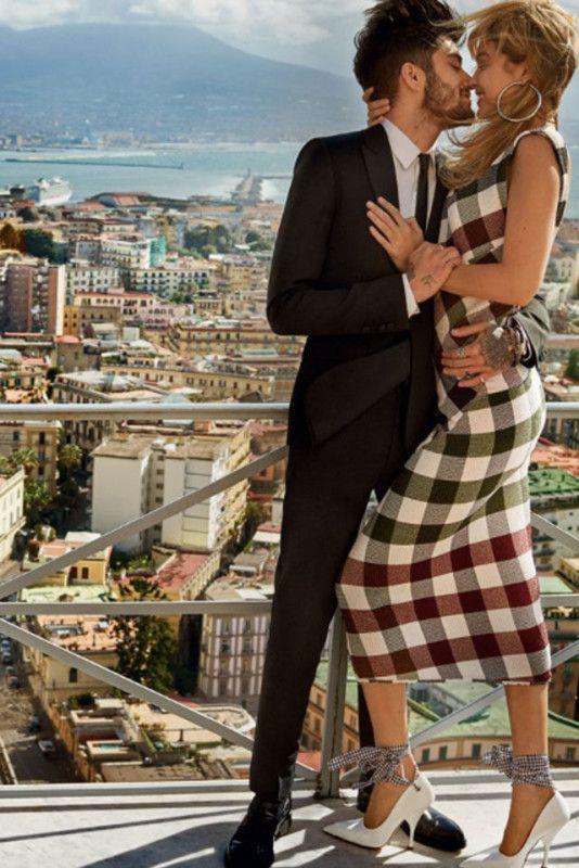 Gigi Hadid e Zayn Malik: shooting romantico a Napoli