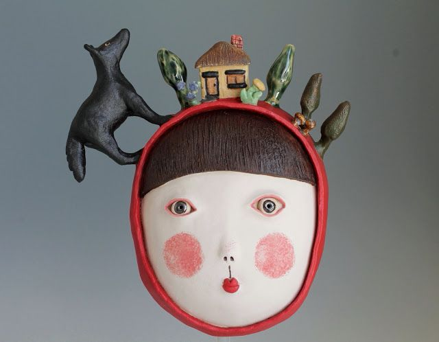 DoGoo - Contemporary Clay Idols: Red riding hood for a lovely family in Germany - a...