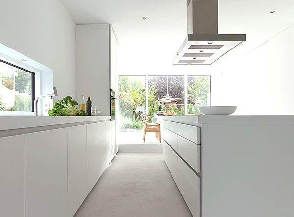 modern white kitchens - Google Search