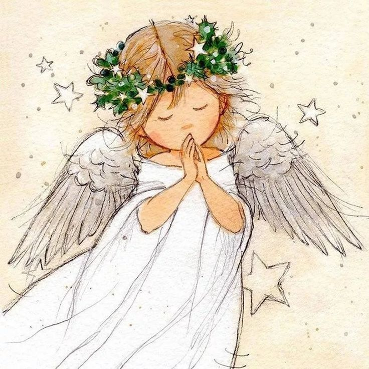 ангелочек рисунок картинка чем носить синий