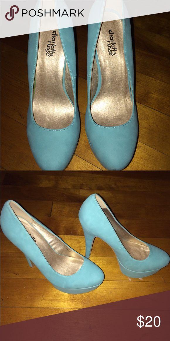 Princess teal high heels Princess teal high heels Charlotte Russe Shoes Heels
