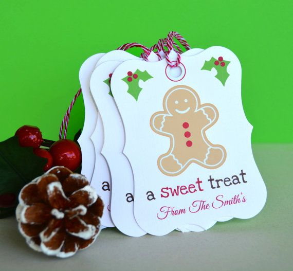 Gingerbread Man Personalized Christmas Tags, Hang Tags
