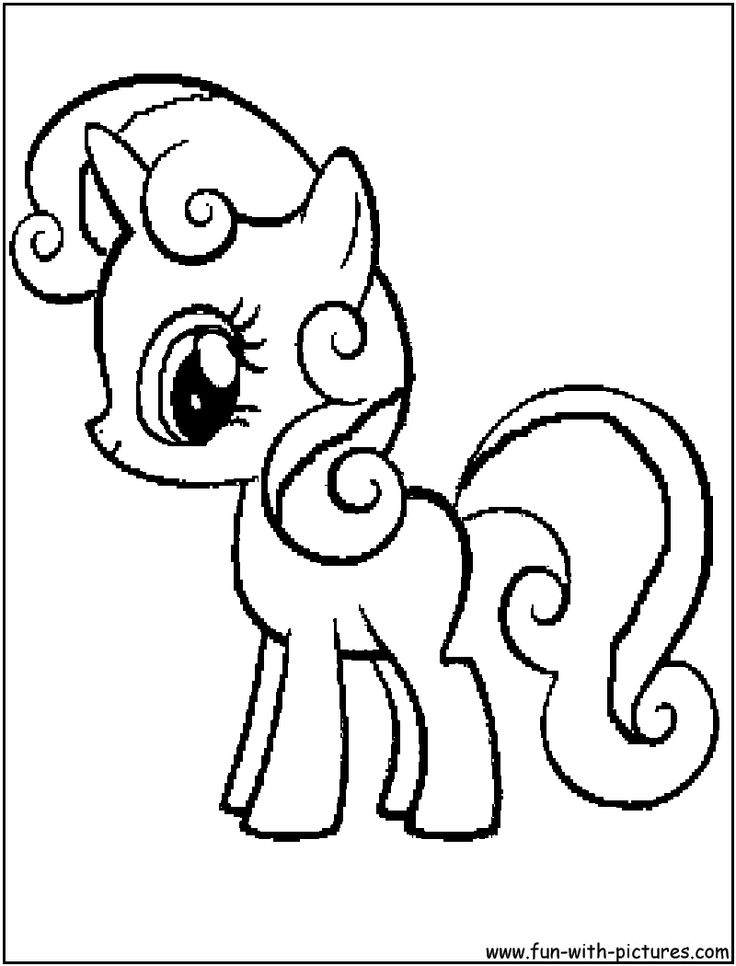 Sweetie Belle My Little Pony Coloring Pages