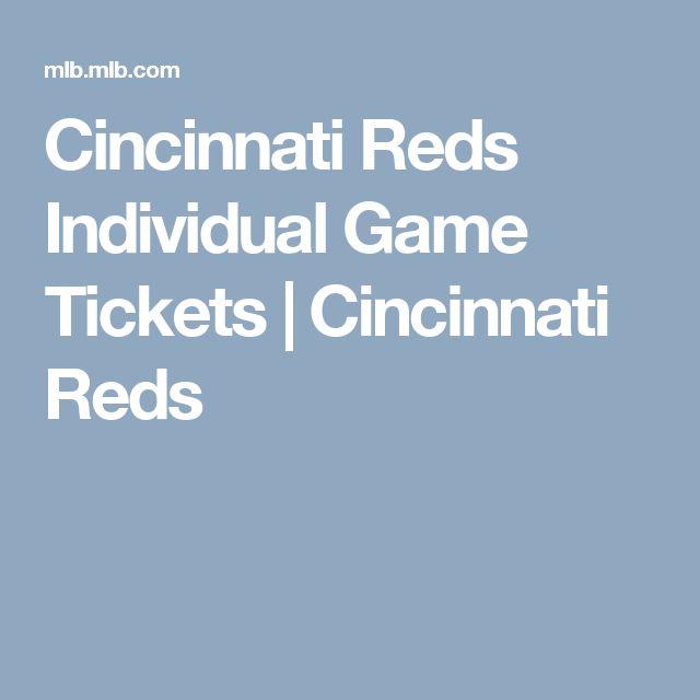 Cincinnati Reds Individual Game Tickets | Cincinnati Reds