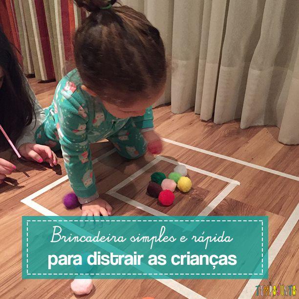 Diante da falta de tempo que temos, é sempre bom ter uma sugestão de brincadeira simples e rápida que pode distrair as crianças de todas as idades!
