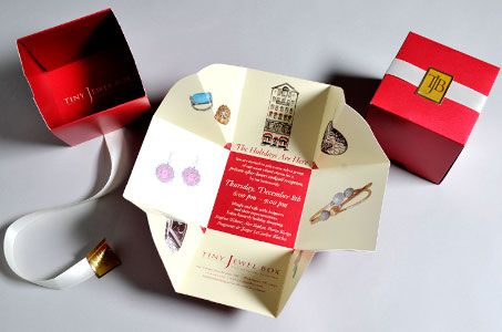 Dimensional direct mail, like this box, receives among the highest response rates. No surprise really as the box is something immediately associated with a gift.