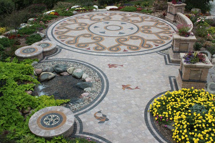 Paver Designs For Backyard Painting Inspiration Decorating Design