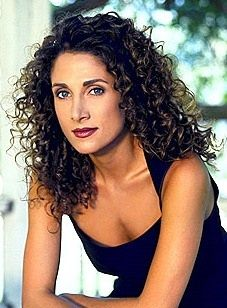 Curly Hair Style. Melina Kanakaredes. Long Brown Extremely Curly Hair