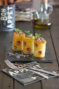 Cilindro de patata con jarrete trufado #plating #presentation
