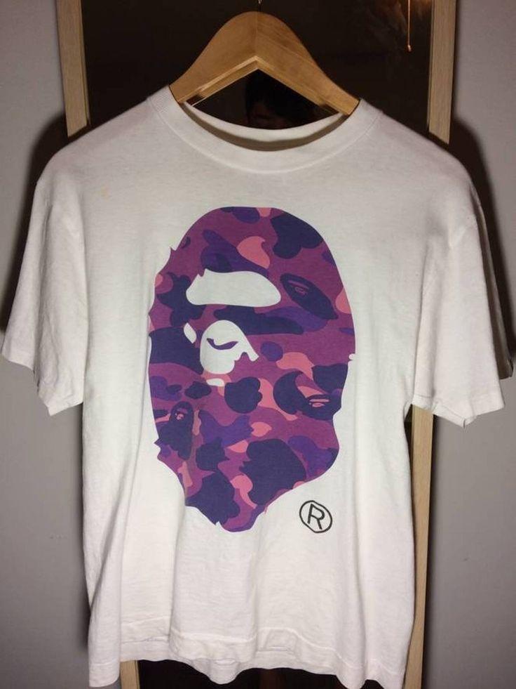 Bape Purple Camo Big Ape Head Tee Size m - Short Sleeve T-Shirts for Sale - Grailed