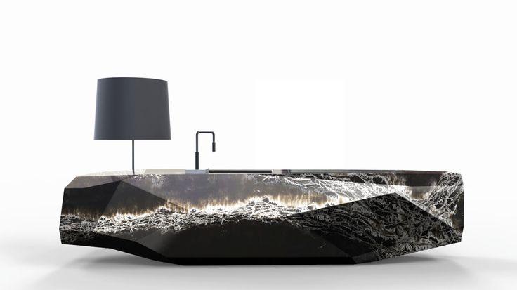 Quartz Rock es la nueva creación del diseñador Arik Levi para la firma Compac dentro de la colección Génesis, la gran apuesta de la marca española para el mercado internacional.  #compact #diseñodecocinas #materiales