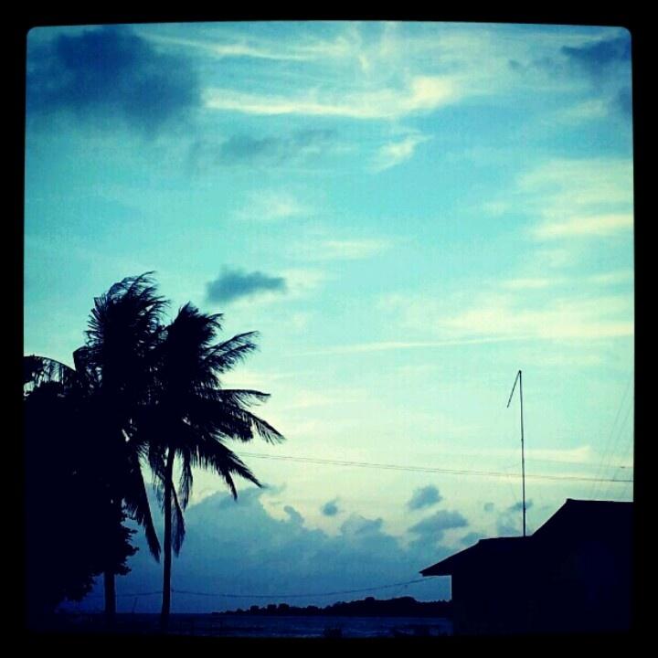 Blue afternoon sky @karimun jawa, indonesia
