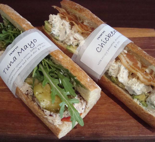 Monty's sandwich shop, Bondi Junction - yum yum