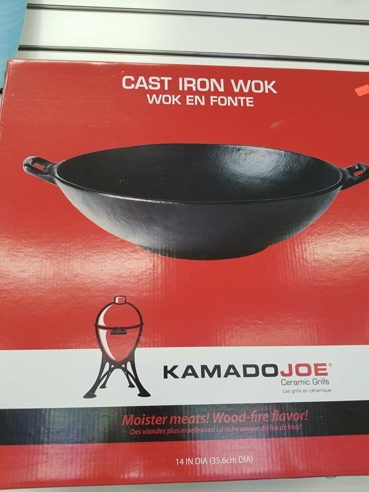 Kamado Joe Cast Iron Wok   Kamado Joe Grills & Accessories