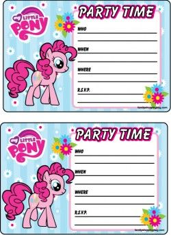 50 best My little pony birthday with free printables images on