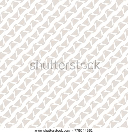 Diagonal wavy stripes texture. Subtle vector geometric white and beige seamless pattern with curved and straight lines. Abstract repeat background. Delicate design for decor, wallpapers, fabric, cloth