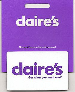 I would like a Claire's gift card so I can get my 2nd ear piercings redone and get a new pair of earrings to match (´^ω^))