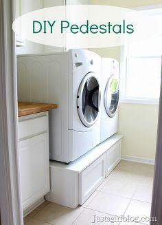 laundry room pedestals, appliances, laundry room mud room, DIY laundry room pedestals for 100