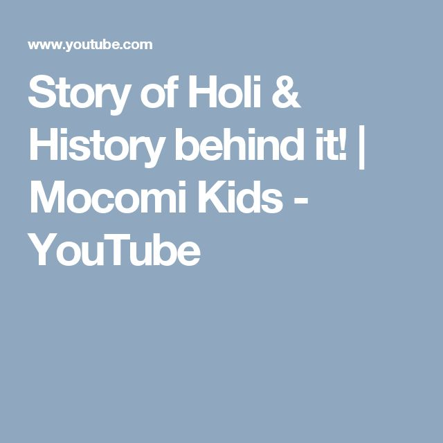 Story of Holi & History behind it! | Mocomi Kids - YouTube