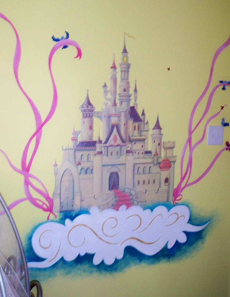 Hand Painted Princess Wall Mural. Custom Blended Colors To Match Childu0027s  Bedding And Carpet. Part 90