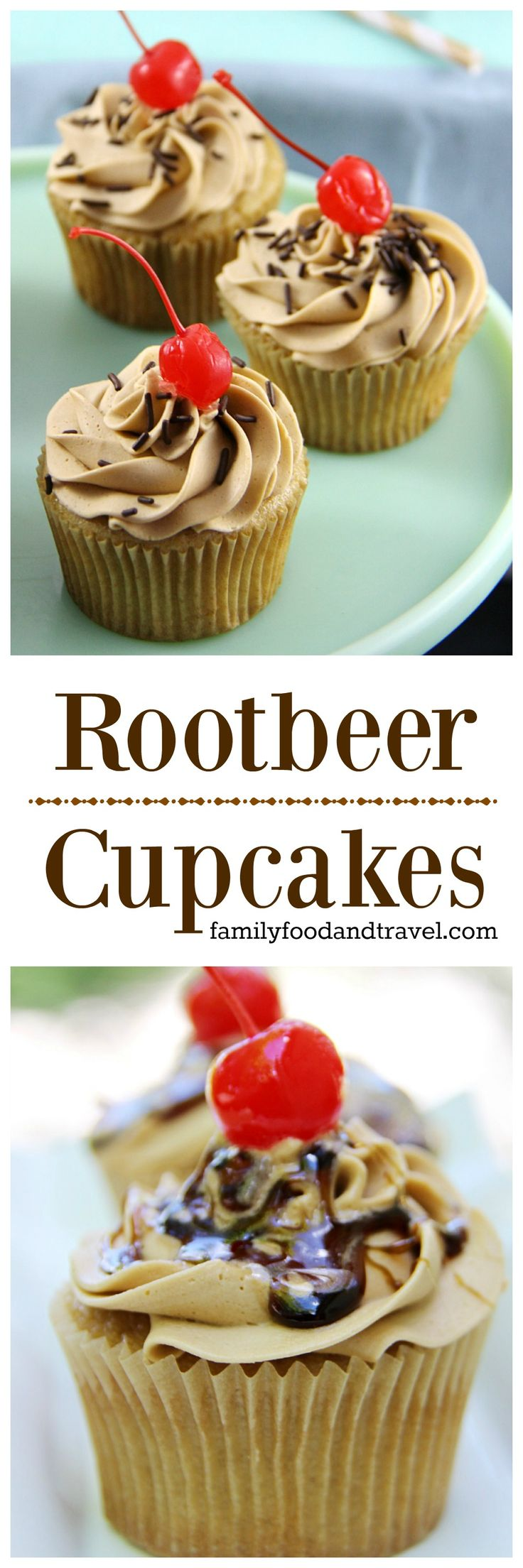 Root Beer Cupcakes - a delicious recipe for root beer cupcakes everyone will love. The perfect amount of sweetness that will be a hit at your next party.