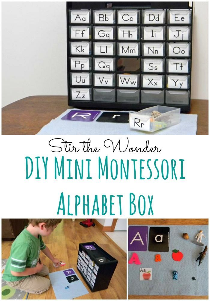 DIY Mini Montessori Alphabet Box | Stir the Wonder #kbn #preschool #homeschool