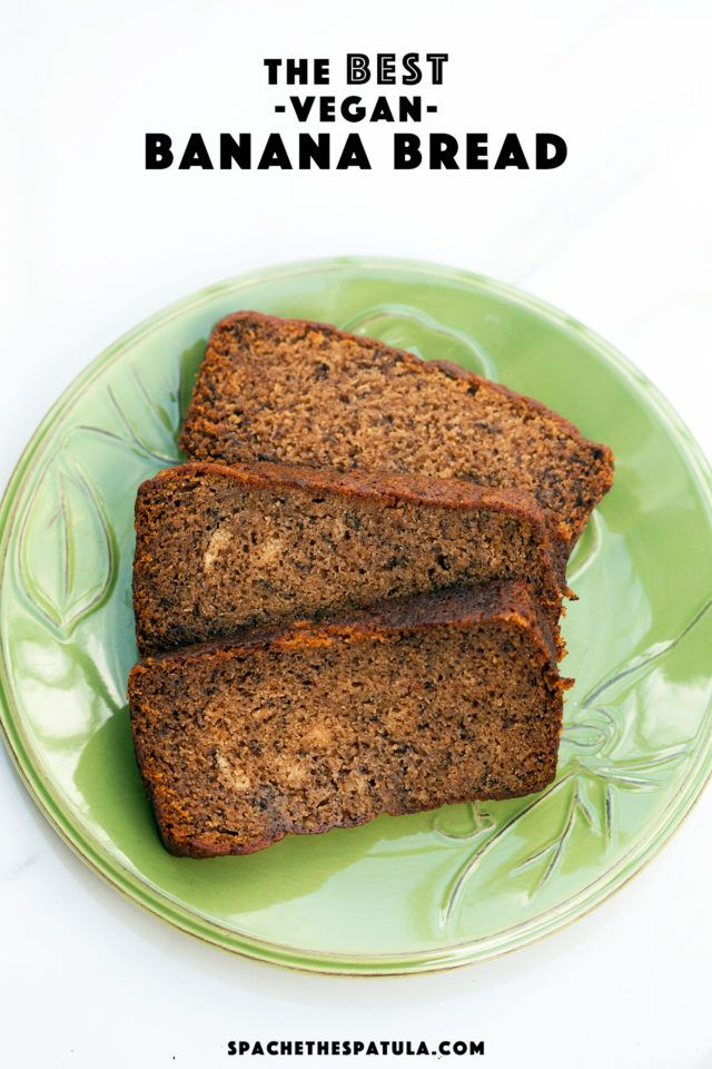 This is the most delicious, and moistest banana bread I have ever tried---AND its vegan! | spachethespatula.com #recipe