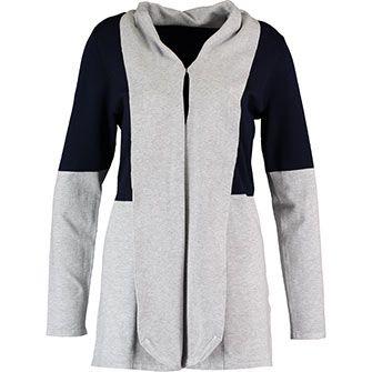 Navy & Grey Open Cardigan