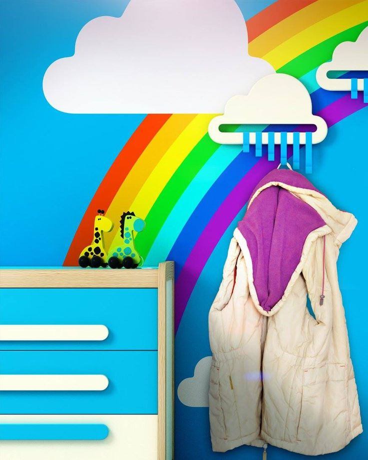 The white cloud is not only a useful hanger bau also an elegant and unique touch for your child's room