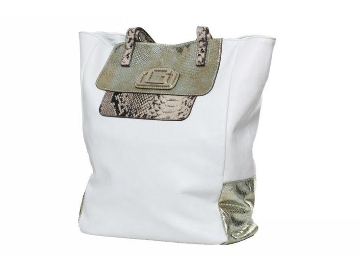 Dámská bílá/zlatá kabelka GUESS, s zvířecím motivem - 100062048   obujsi.cz - dámská, pánská, dětská obuv a boty online, kabelky, módní doplňky