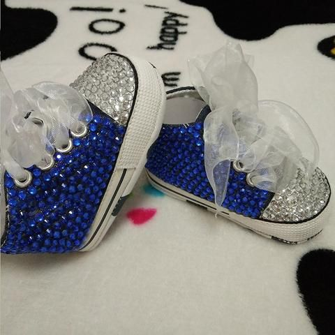 Baby Bling Blue Newborn Infant Baby Girl High Top Tennis Shoes Booties                                                                                                                                                                                 More
