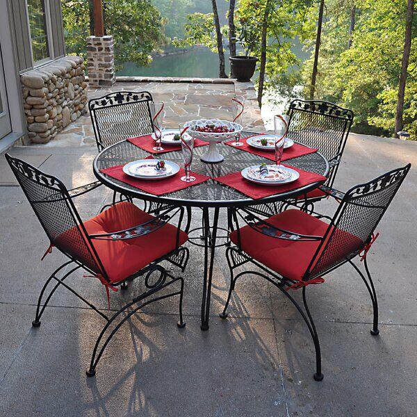 Vaillancourt 5 Piece Dining Set Iron Patio Furniture Wrought Iron Patio Set Wrought Iron Patio Furniture