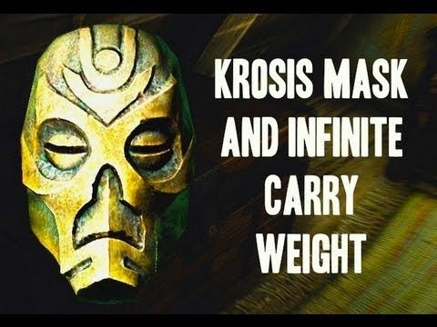 Skyrim Secrets: Krosis Mask and Infinite Carry Weight - YouTube