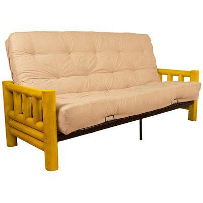 Grand Teton Futon and Mattress Upholstery: Twill Natural-Ivory, Size: Full - http://delanico.com/futons/grand-teton-futon-and-mattress-upholstery-twill-naturalivory-size-full-603749307/