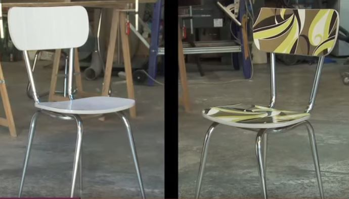 1000 id es sur le th me chaise formica sur pinterest - Relooker une chaise en formica ...