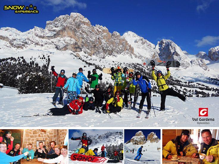 Val Gardena. Gröden, St. Christina, Sella Ronde, Arabba, Wolkenstein, Corvara, Col Raiser en nog veel meer!! Waaronder een lekkere cappucino voor de gidsen tijdens de 2014 Dolomieten ski safari.