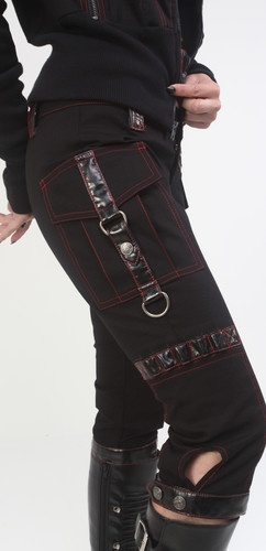 LIP SERVICE SOLD OUT INDUSTRIAL FALLOUT METAL BLACK CAPRIS RED STITCHING 29 L | eBay
