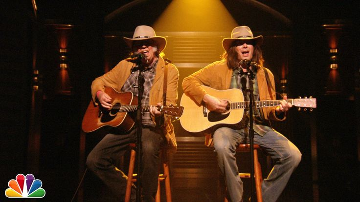 "Two Neil Youngs Sing ""Old Man"" ~ Neil Young sings his classic song ""Old Man"" alongside Neil Young. The Tonight Show Starring Jimmy Fallon"
