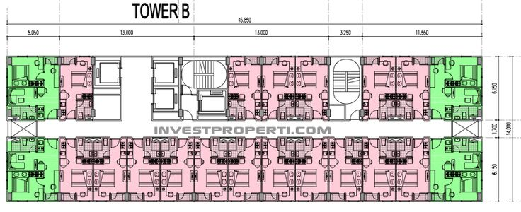 Floor Plan Tower B Apartemen B Residence