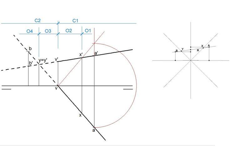Recta dados dos puntos de ella - Animación 3D (sistema diédrico)