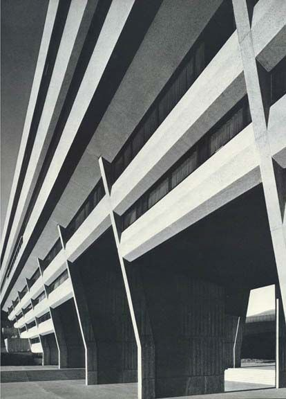 Lethbridge University, Alberta. Arthur Erickson, 1968