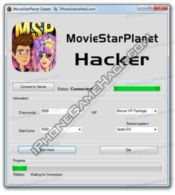 MovieStarPlanet Cheats Hack StarCoins Diamonds VIP iOS Android Browser - http://iphonegamehack.com/moviestarplanet-cheats-hack/