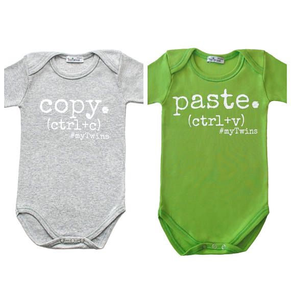Twin Onesies Copy Paste