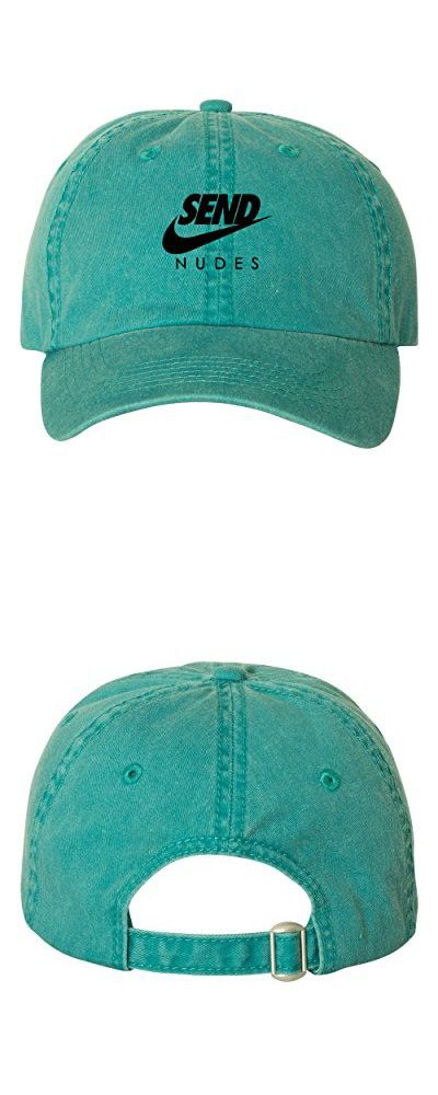 90cd1022ac0 Send Nudes Unstructured Baseball Dad Hat Cap - Teal Pigment Dyed w  Black