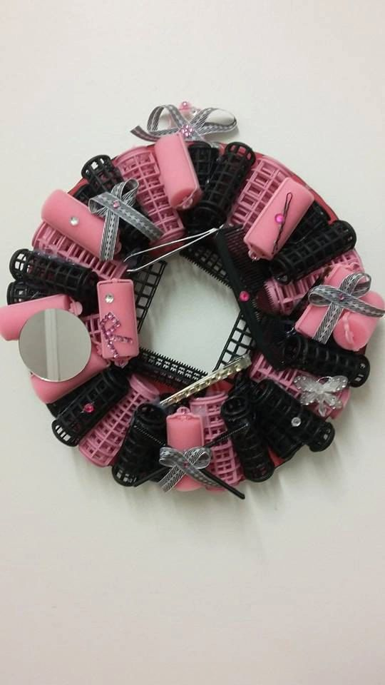 Cosmetology Wreath home business decor by playfulwearsetc on Etsy