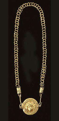 Roman Gold Necklace circa 3rd century CE